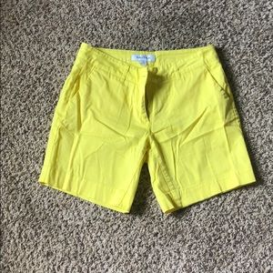 "Lemon Yellow Nautica 7"" shorts"